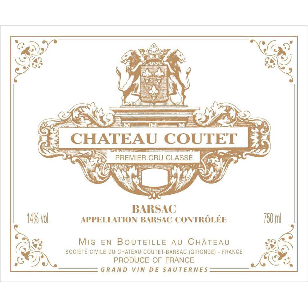 Chateau Coutet 2016 (375ML half-bottle) - Dessert Wine
