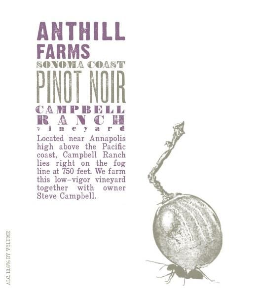 Anthill Farms 2017 Campbell Ranch Vineyard Pinot Noir - Red Wine