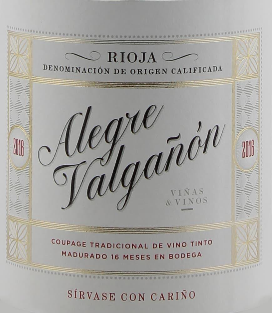 Alegre Valganon 2016 Rioja Tinto - Tempranillo Red Wine