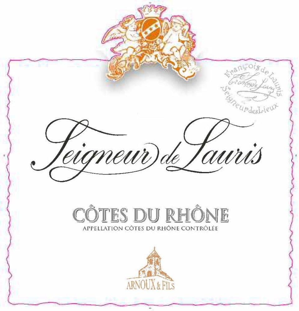 Arnoux et Fils 2016 Seigneurs de Lauris Cotes Du Rhone - Rhone Blends Red Wine