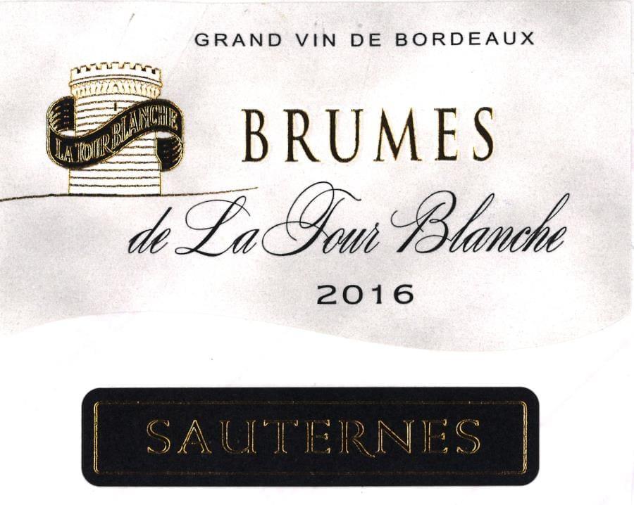 Chateau La Tour Blanche 2016 Brumes de la Tour Blanche Sauternes (375ML) - Dessert Wine