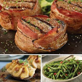 Bacon Wrapped Filet Dinner