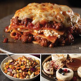 Beef Lasagna & Root Veggies Dinner