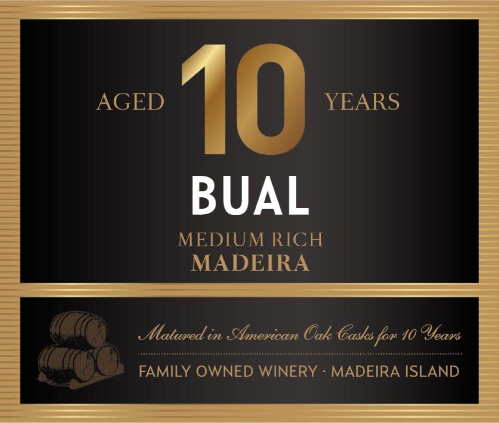 Blandy's 10 Year Old Bual Madeira (500ML) - Dessert Wine