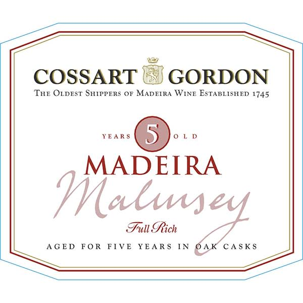 Cossart Gordon five Year Malmsey Maderia - Madeira Dessert Wine