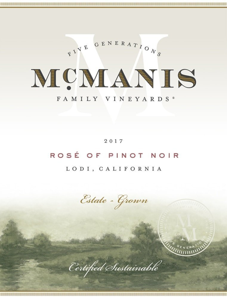 McManis Family Vineyards 2017 Rose of Pinot Noir - Rose Rose Wine