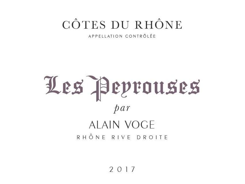 Alain Voge 2017 Cotes Du Rhone Les Peyrouses - Syrah/Shiraz Red Wine