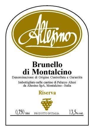 Altesino 2013 Brunello di Montalcino Riserva - Sangiovese Red Wine