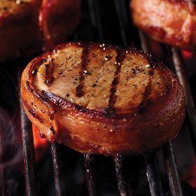 4 (6 oz.) Bacon Wrapped Pork Chops