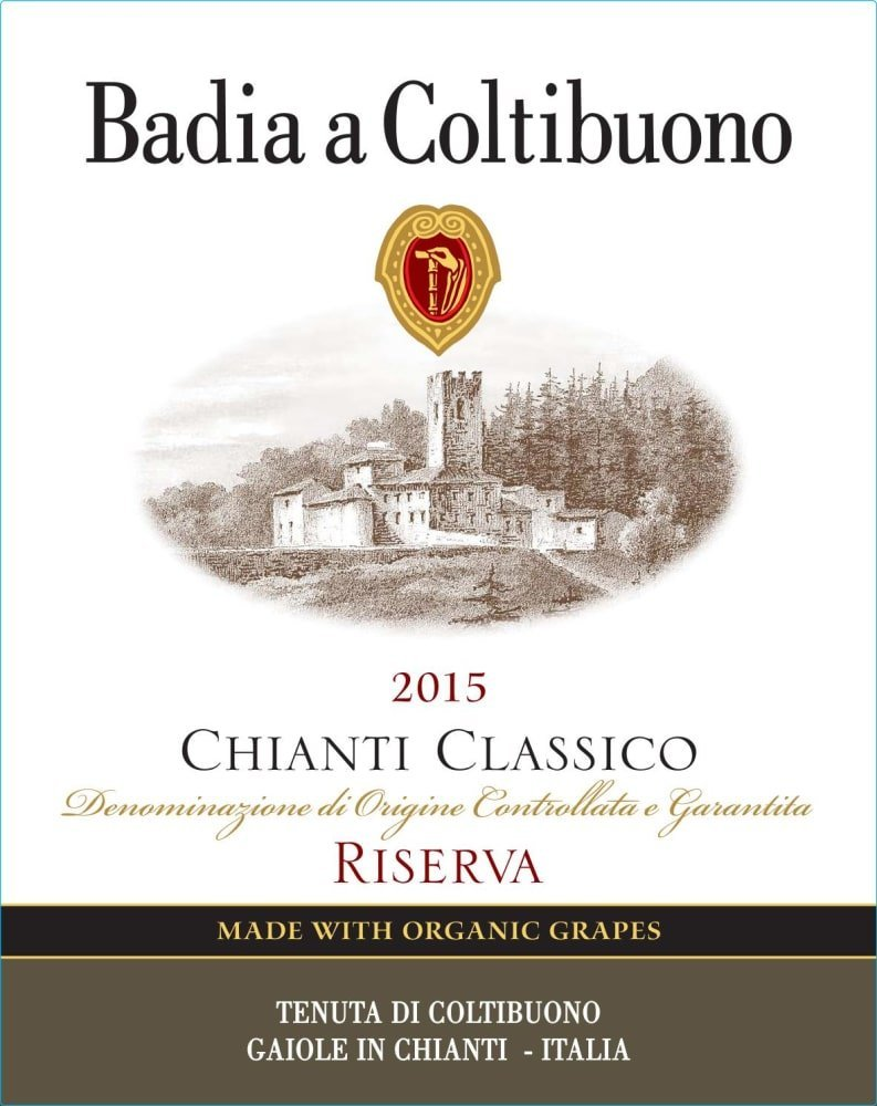Badia a Coltibuono 2015 Chianti Classico Riserva - Sangiovese Red Wine