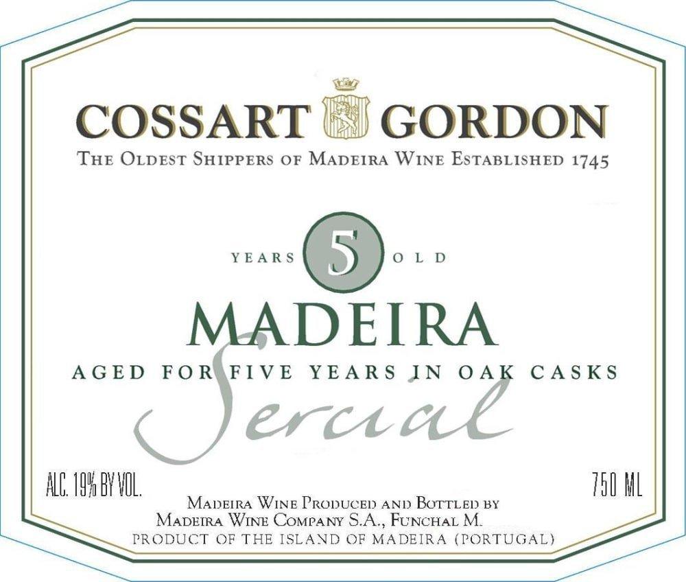 Cossart Gordon five Year Sercial Maderia - Madeira Dessert Wine