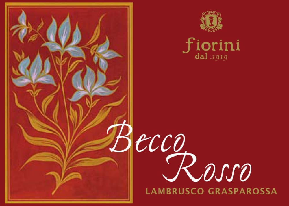 Fiorini 2018 Lambrusco Becco Rosso - Champagne & Sparkling